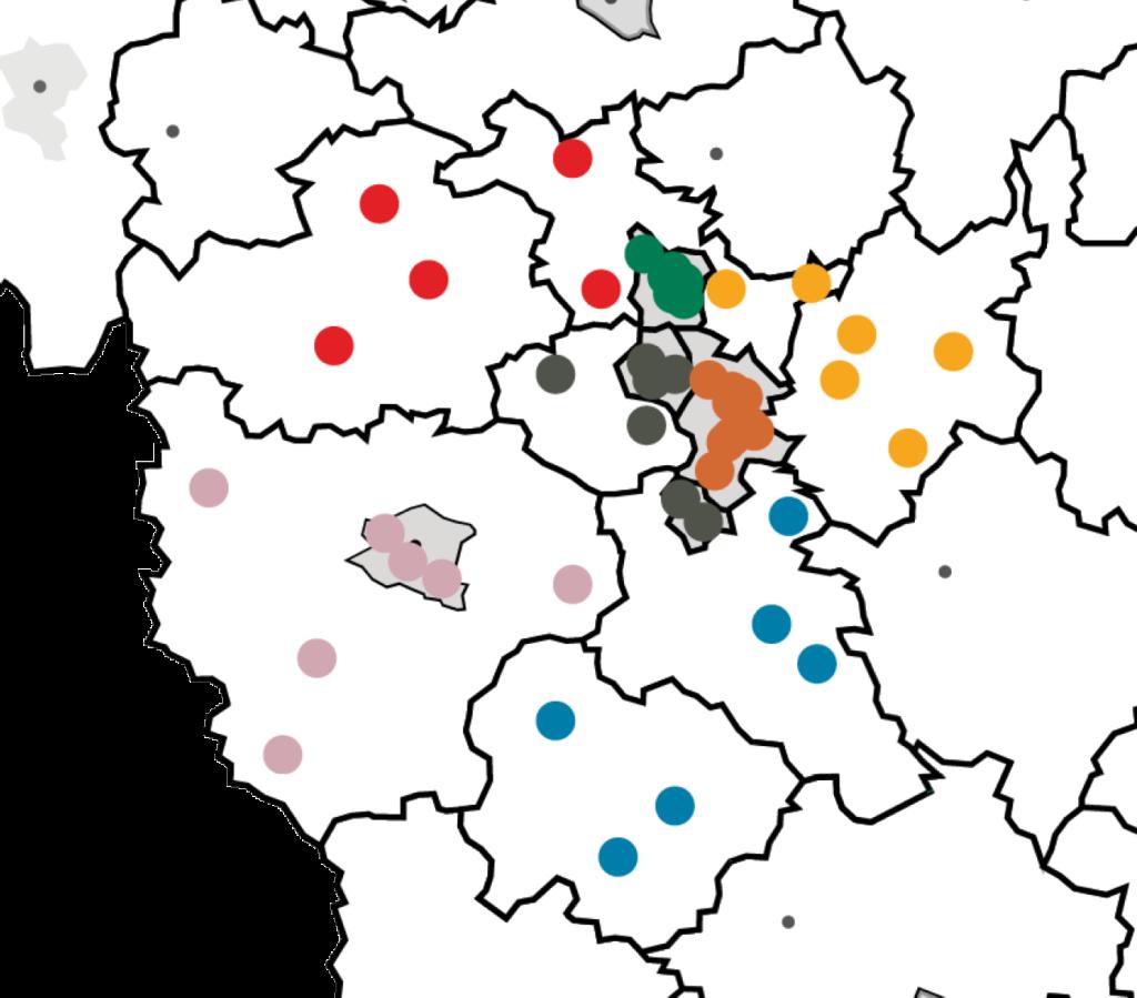 Karte Mittelfranken